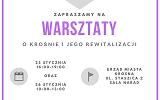 Zaproszenie na warsztaty strategiczne dotyczące opracowania Programu Rewitalizacji Miasta Krosna