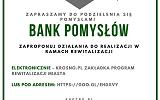 Zaproszenie do wzięcia udziału w ankiecie Bank pomysłów w ramach konsultacji Programu Rewitalizacji Miasta Krosna
