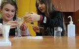 uczestnicy kółka zainteresowań z chemii