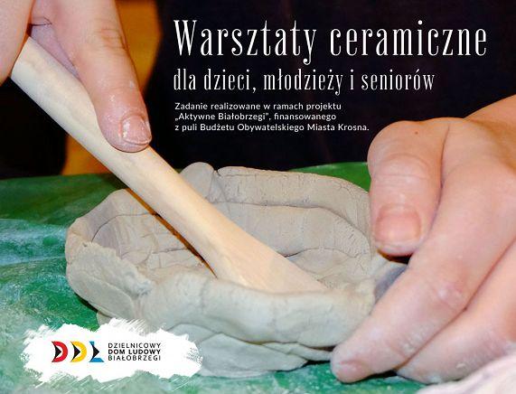 Grafika zaproszenie na warsztaty ceramiczne