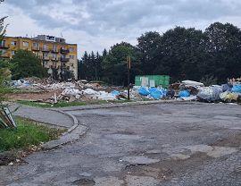 Rozbiórka starego budynku przedszkola