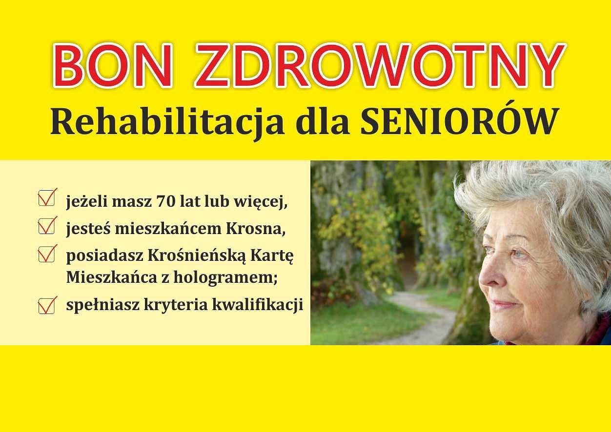 Plakat BON ZDROWOTNY DLA SENIORA NA 2021 r.
