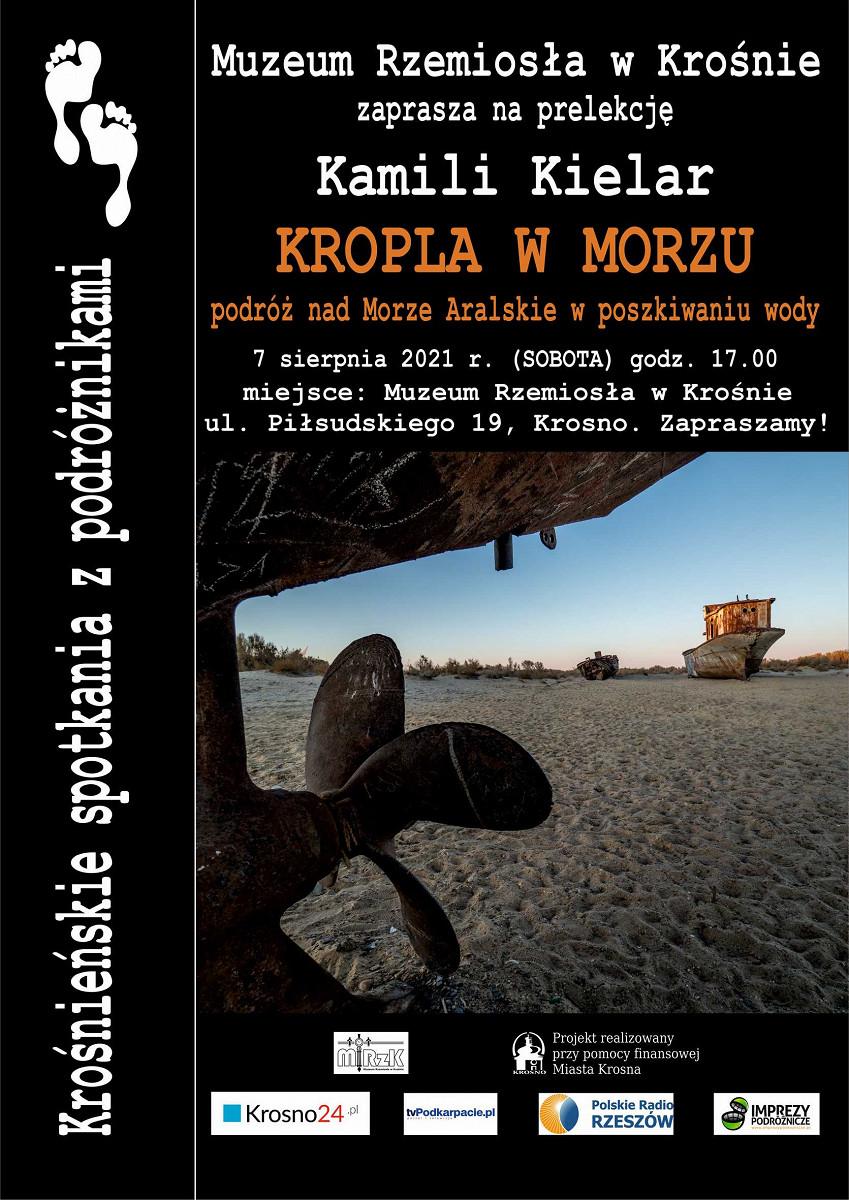 plakat Spotkania z podróżnikami - Kamila Kielar